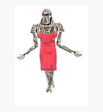 Red Dress Cylon Photographic Print