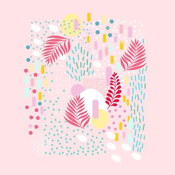 Organic Nature - Colourful Doodle Pattern 4 by Dominiquevari