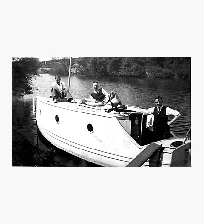 Boating on the River Ouse-York -1940's Photographic Print