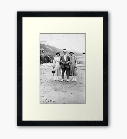 On The Beach - Scarborough  1930's. Framed Print