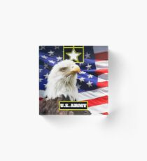 U.S. Army with Eagle and Flag Acrylic Block