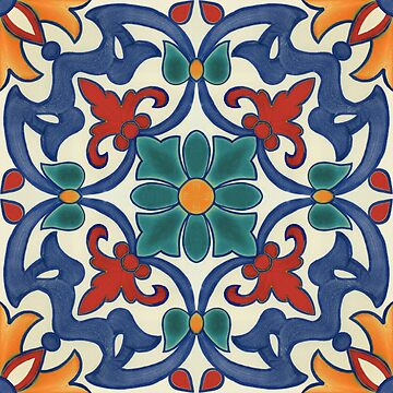 Colorful azulejos pattern by CatyArte