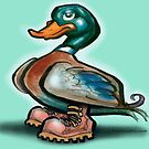 Duck in Work Boots by Kevin Middleton
