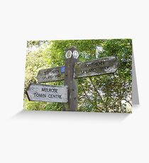 fingerpost - Melrose - Southern Upland Way Greeting Card