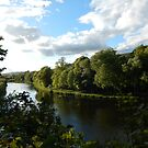 The Tweed at Melrose - late May by Babz Runcie