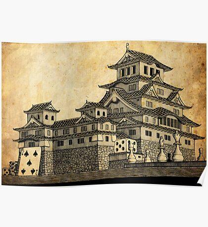 Himeji Castle (Parchment) Poster