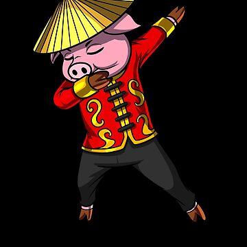 Chinese New Year 2019 Pig Dabbing Gift by nikolayjs