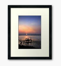 Scenic Lake Framed Print