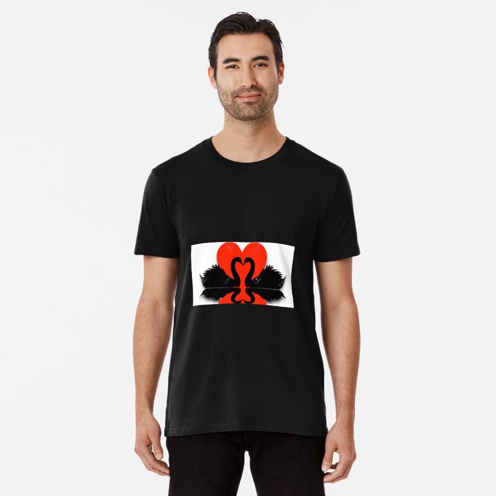 Schwäne Premium T-Shirt