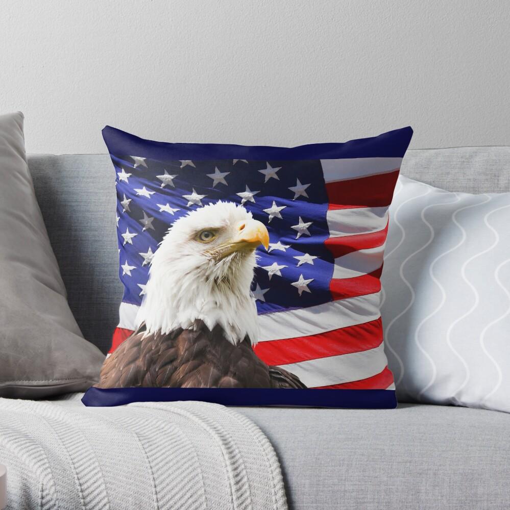amerikanischer Adler Dekokissen
