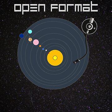 Open Format DJ T-shirt by ravishdesigns
