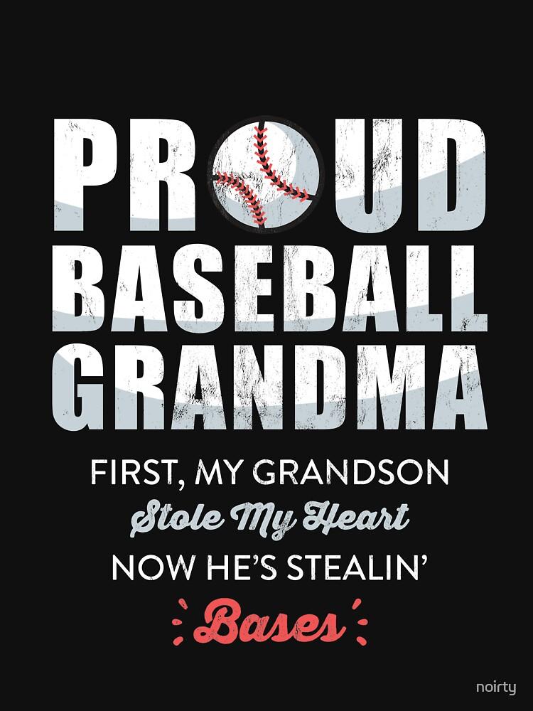 Baseball Grandson T-shirt for Baseball Grandma by noirty