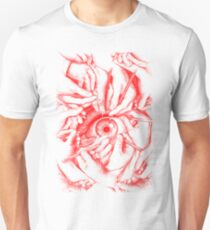 Drawn to See - Red Unisex T-Shirt