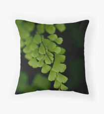 Fresh Leaves Throw Pillow