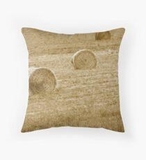 Wheat Bales Throw Pillow