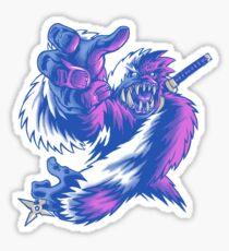 Just the Ninja Yeti Sticker