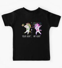 Deine Tante, meine Tante, Funny Dabbing Unicorn Kinder T-Shirt