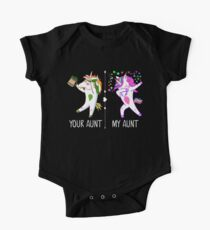 Your Aunt My Aunt Funny Dabbing Unicorn One Piece - Short Sleeve