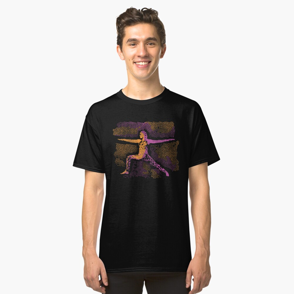 Creative Yoga Pose Character Classic T-Shirt Front