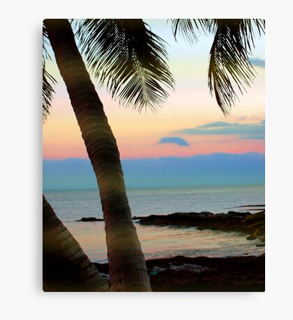 Last sunbeams at Smather's Beach in Key West, FL Canvas Print