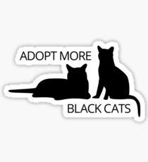 Adopt More Black Cats Sticker