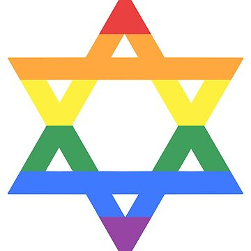 Rainbow Star of David (light) by porcupride