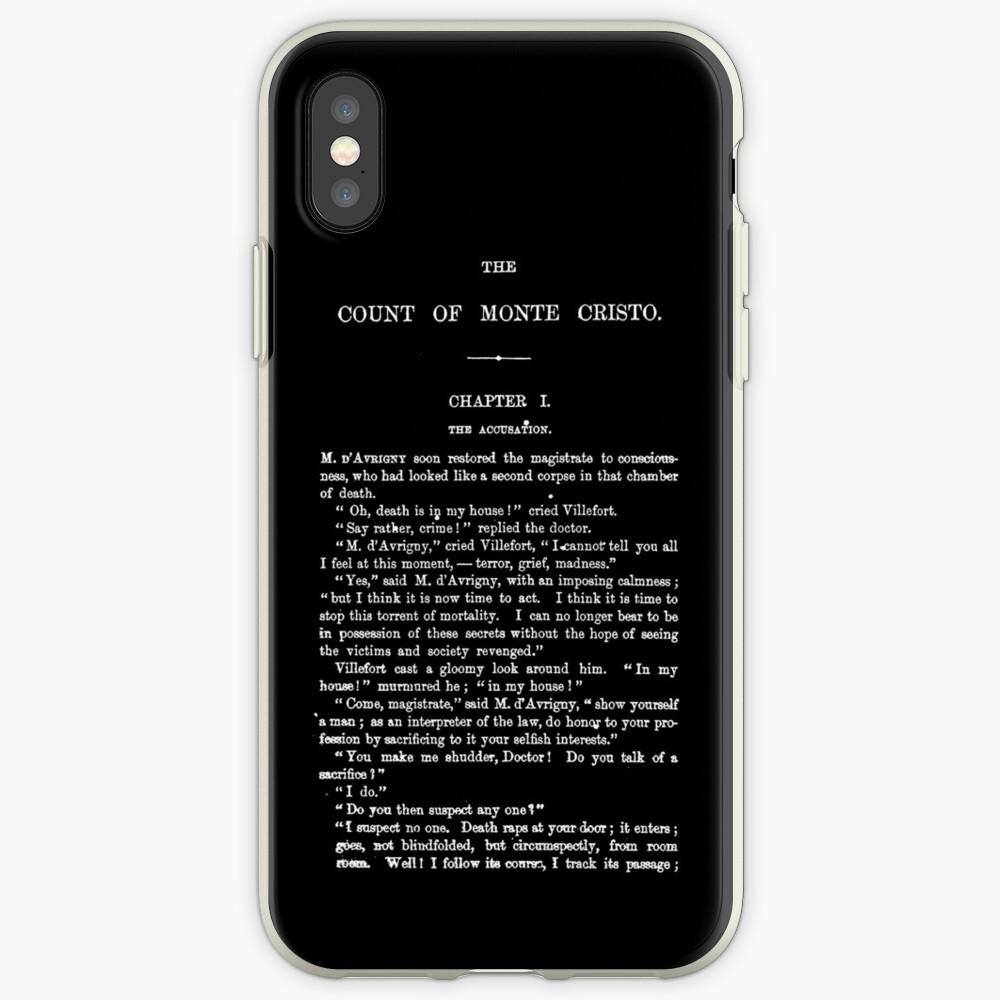 Der Graf von Monte Cristo Alexandre Dumas Erste Seite iPhone-Hülle & Cover