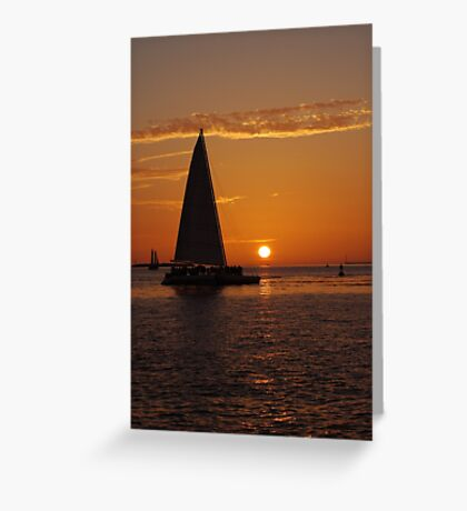 The most beautiful sunsets happen in Key West, FL Greeting Card