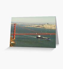 San Fransico Bridge Greeting Card