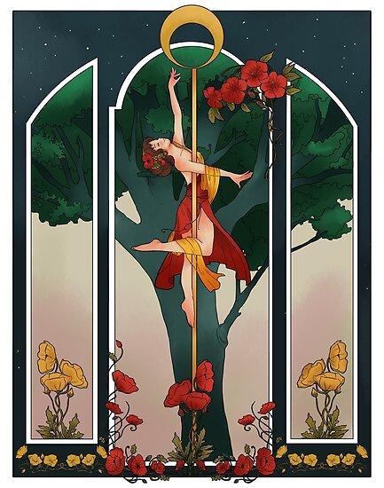 « Pole Dance Art Nouveau » par julietteTaka