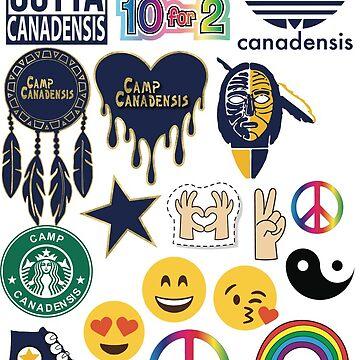 CAMP CANADENSIS STICKER by dddesignsnj