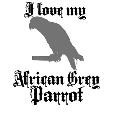 I Love My African Grey Parrot by jzelazny