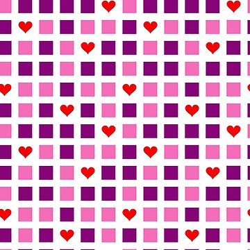 valentines, block pattern  by B0red