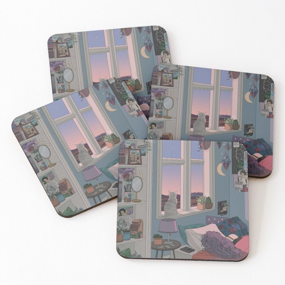 Early Morning Coasters (Set of 4)