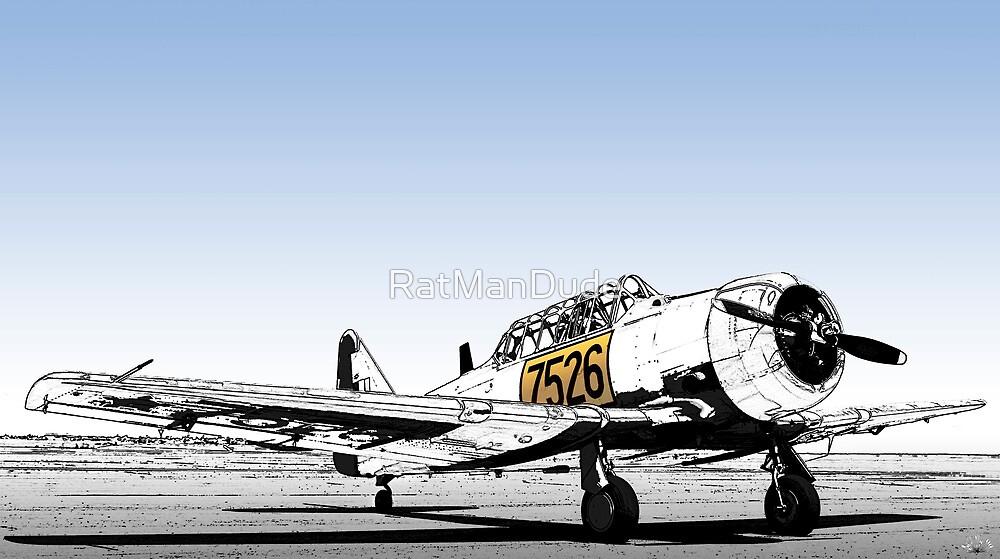 N. American AT-6C Harvard Mk 3 - 7526 by RatManDude