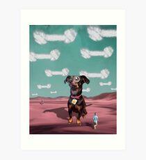 Visions of Dogbones Danced in Her Head Art Print