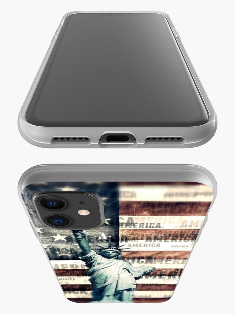 Alternate view of Vintage Patriotic American Liberty iPhone Case & Cover