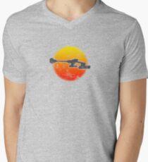 Star Empire Battle Cruiser D7 Flyby - Light Men's V-Neck T-Shirt