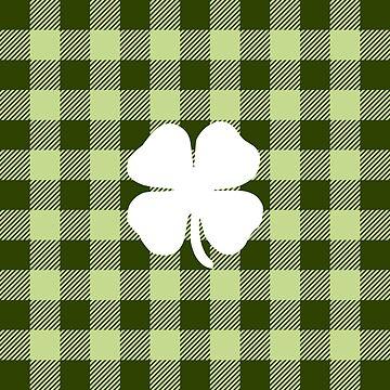 Buffalo Plaid: Four Leaf Clover by MilitaryCandA