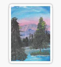 Riverbank Landscape  Sticker