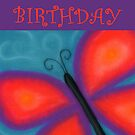 Happy Birthday - Butterfly  by Julie Thomas