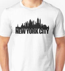 Camiseta unisex NYC Skyline - negro