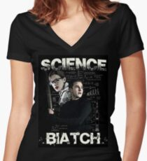 Science Biatch! // AOS // Fitzsimmons Fitted V-Neck T-Shirt