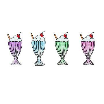 Milkshake Doodles by SharkaSplat