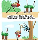 Emu and Koala Valentines Day Card by eddcross