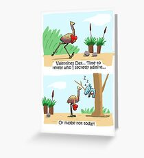 Emu and Koala Valentines Day Card Greeting Card