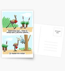 Emu and Koala Valentines Day Card Postcards