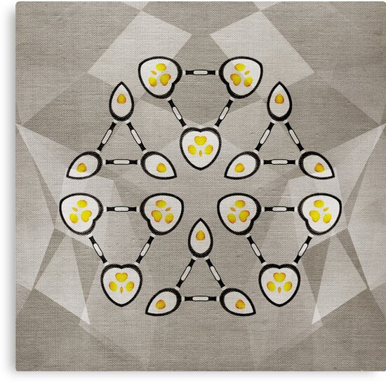 Abstract Techno Fried Eggs by cinema4design
