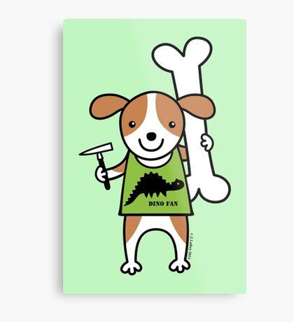 Paleontologist Puppy Dog  Metal Print
