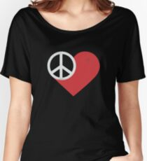 Peace & Love Women's Relaxed Fit T-Shirt
